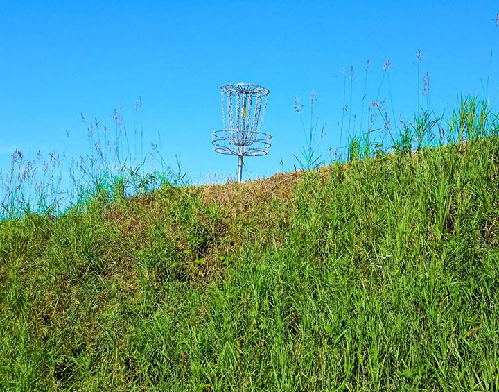 disc golf hill putting