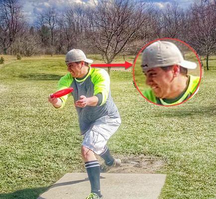 Disc Golf Huck Face