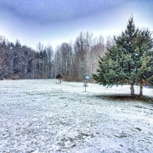 winter disc golf goals
