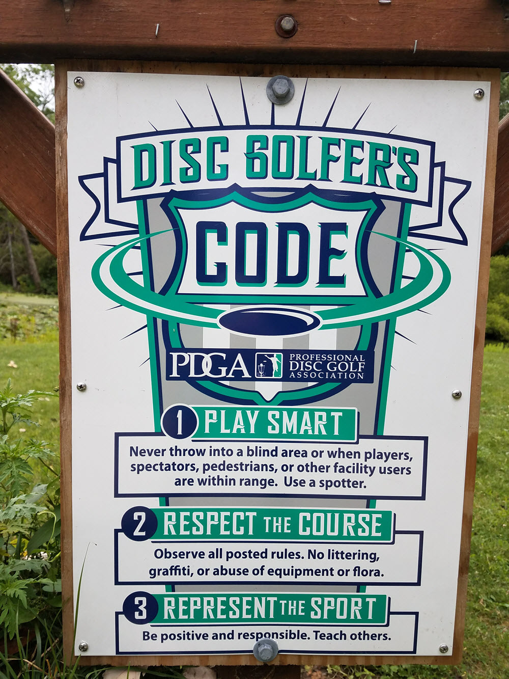 disc golfers code sign