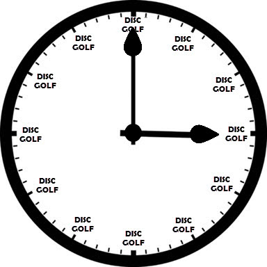 always time for disc golf clock