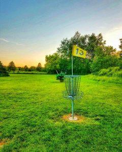 Disc Golf At Dusk