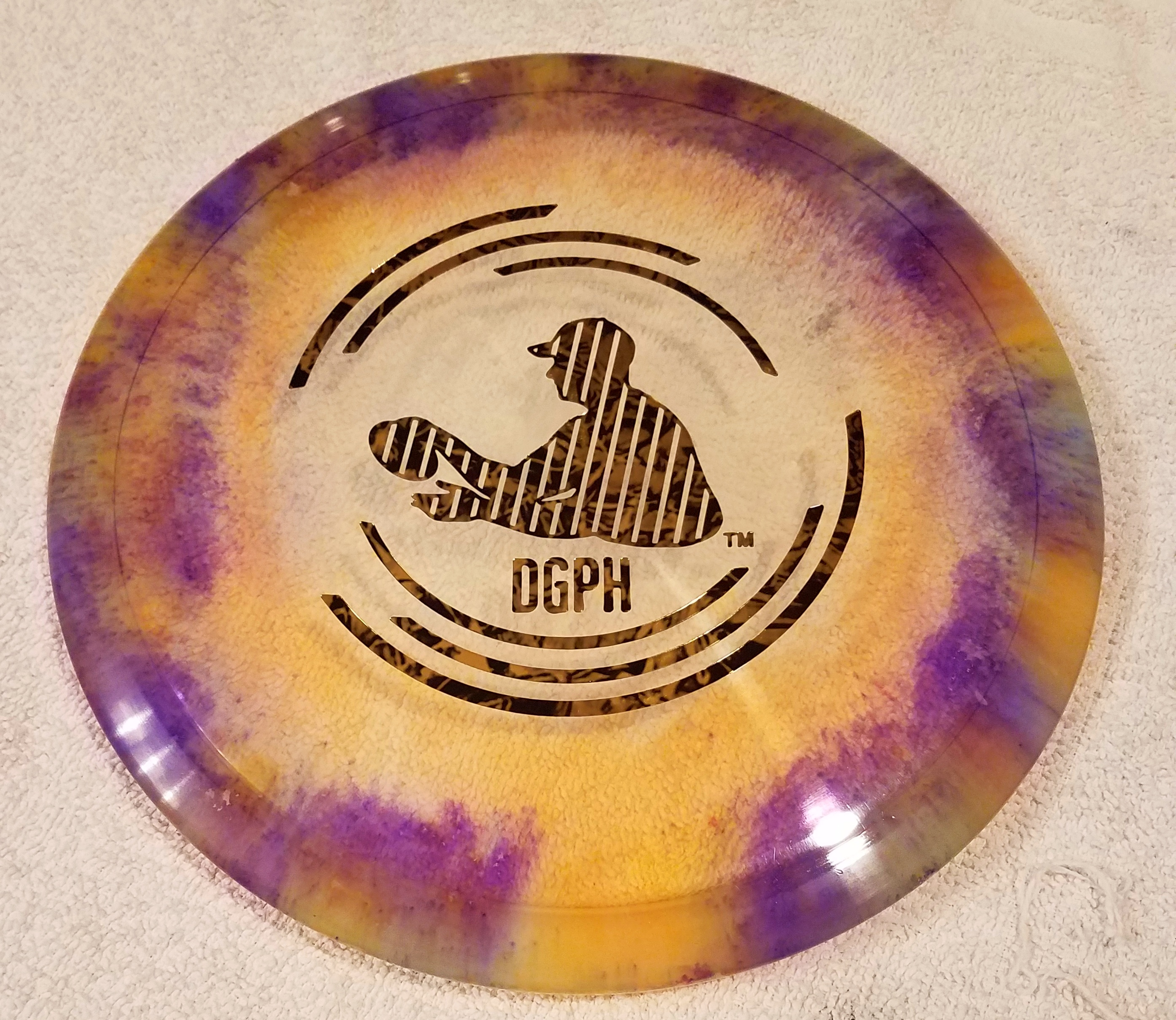 cool disc golf shaving cream dye