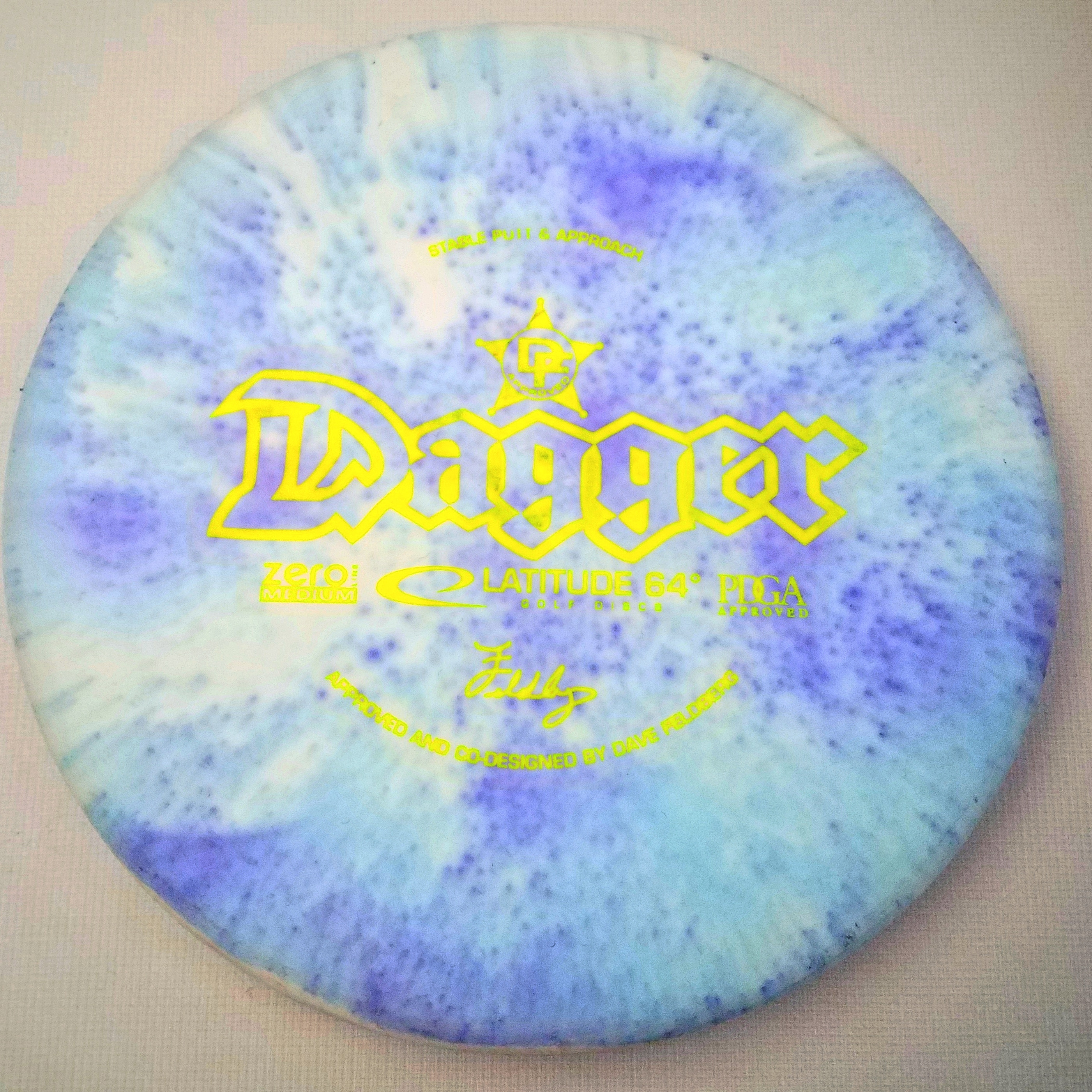 shaving cream dye disc golf dagger