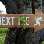 disc golf next tee sign