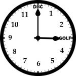 disc golf clock discgolf oclock