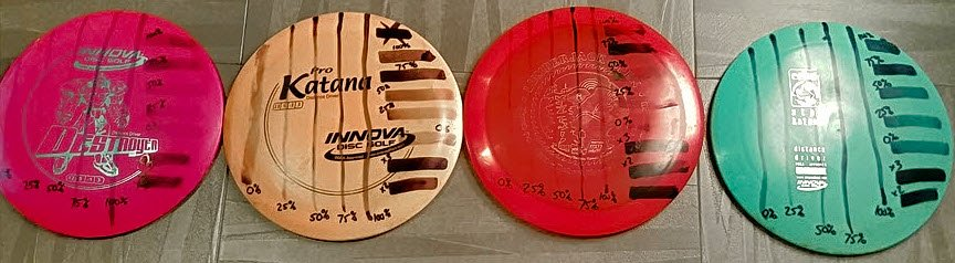disc golf dye different plastics