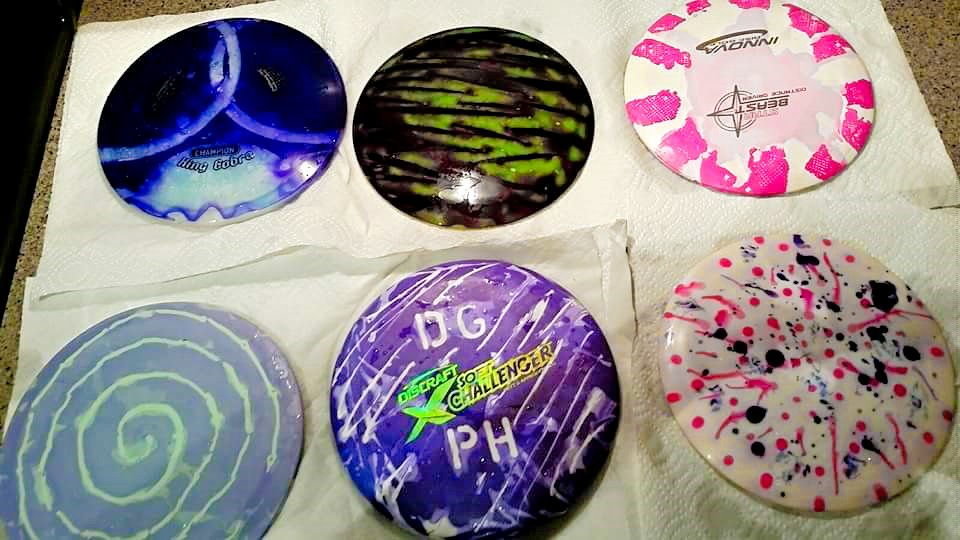 how to dye disc golf discs