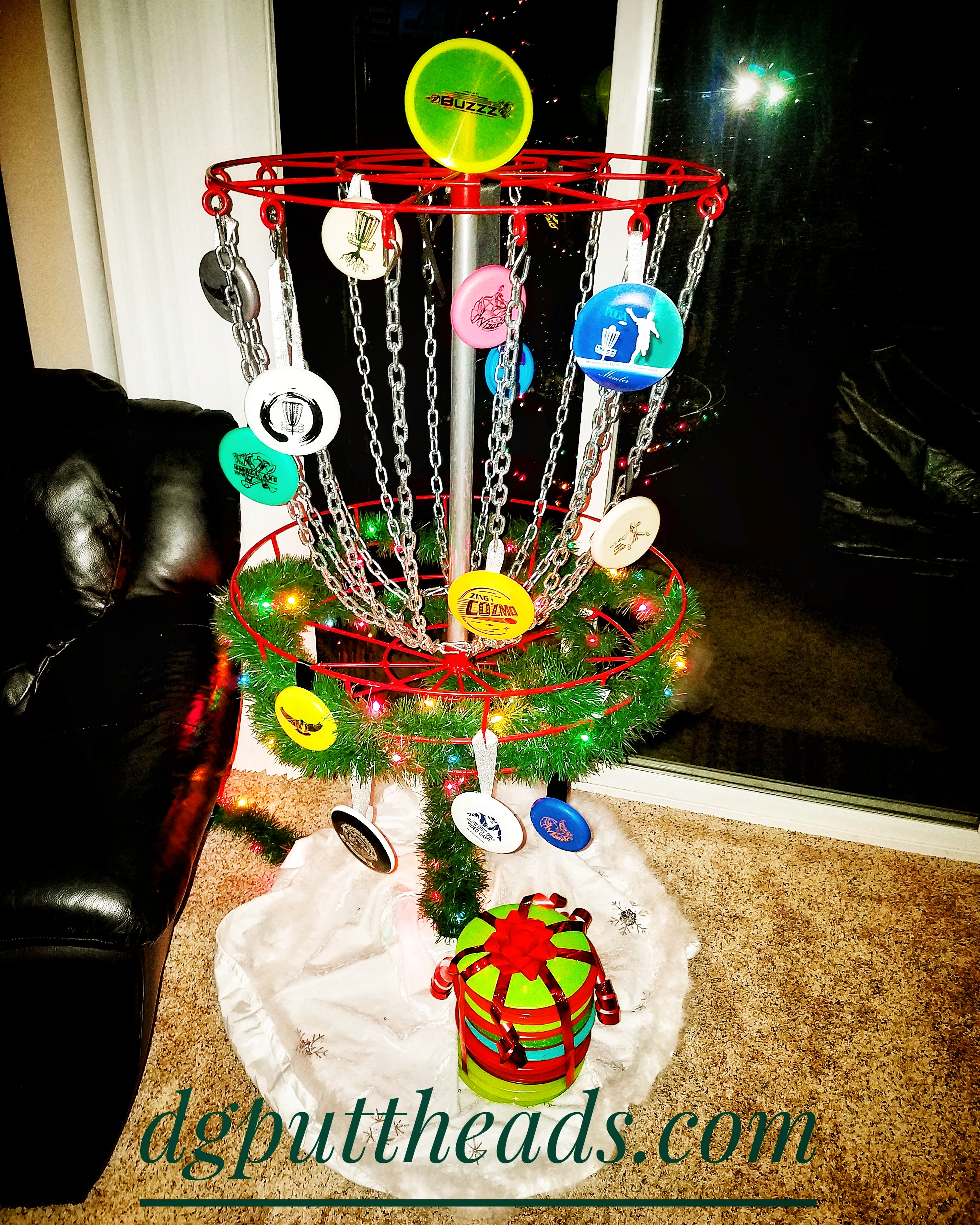 Discmas Tree Disc Golf