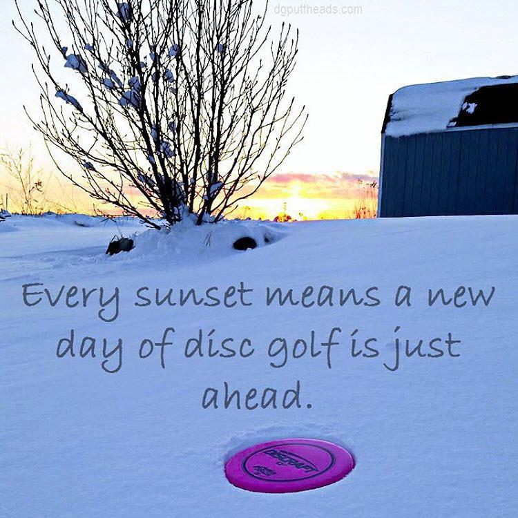 Winter Disc Golf Sunset