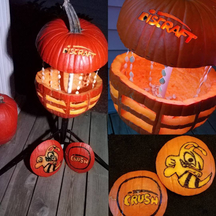 halloween disc golf pumpkin carving
