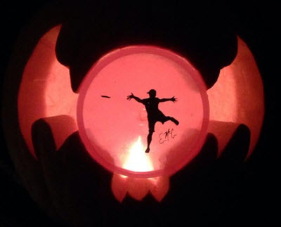 eric mccabe disc golf pumpkin