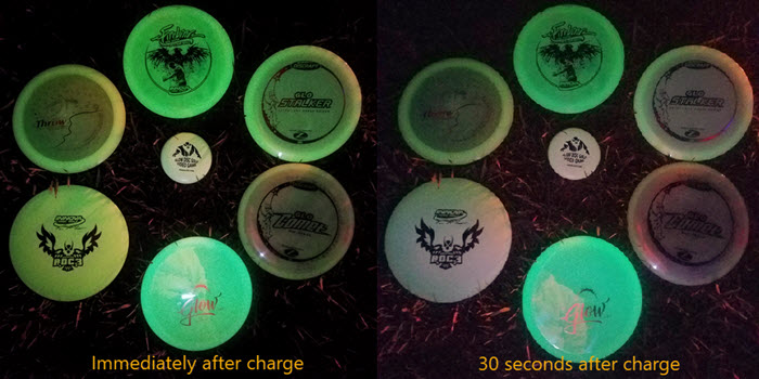 disc golf glow disc plastic