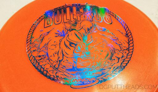 Innova Bullfrog putter stamp